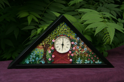 Image The Secret Garden - Beaded Clock