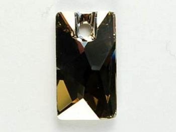 Swarovski Crystal 17x9.5mm Pendular Lochrose Pendant 3500 - Crystal Silver Shade - Transparent with Finish