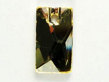 Swarovski Crystal 17x9.5mm Pendular Lochrose Pendant 3500 - Jonquil - Pale Yellow - Transparent Finish