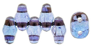 Amethyst Transparent Luster MiniDuos | Czech 2 x 4mm 2 Hole Glass MiniDuo Seed Beads