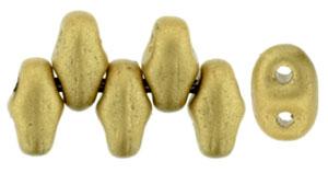 Metallic Flax Matte MiniDuos | Czech 2 x 4mm 2 Hole Glass MiniDuo Seed Beads