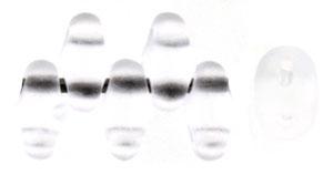 Crystal Matte Transparent MiniDuos | Czech 2 x 4mm 2 Hole Glass MiniDuo Seed Beads