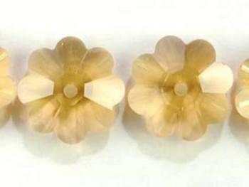 Swarovski Crystal 10mm Daisy Bead 3700 - Light Colorado Topaz - Light Brown - Transparent Finish