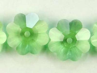 Swarovski Crystal 10mm Daisy Bead 3700 - Peridot - Light Green - Transparent Finish
