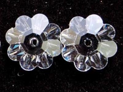 Swarovski Crystal 12mm Daisy Bead 3700 - Crystal - Clear - Transparent Finish