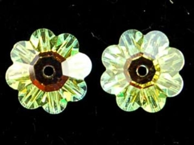 Swarovski Crystal 12mm Daisy Bead 3700 - Crystal AB - Clear - Transparent Iridescent Finish