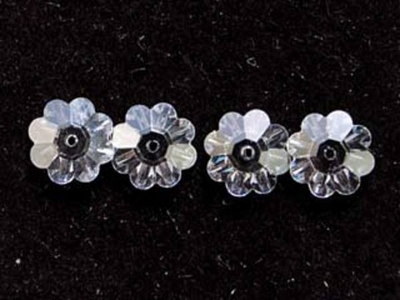 Swarovski Crystal 6mm Daisy Bead 3700 - Crystal - Clear - Transparent Finish