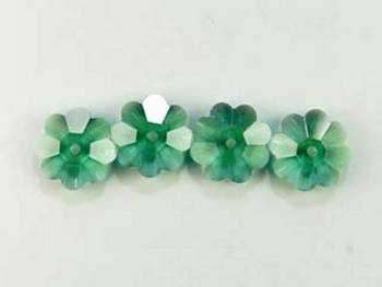 Swarovski Crystal 6mm Daisy Bead 3700 - Erinite - Bluish Green - Transparent Finish