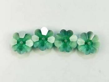 Swarovski Crystal 6mm Daisy Bead 3700 - Erinite - Bluish Green - Transparent Finish