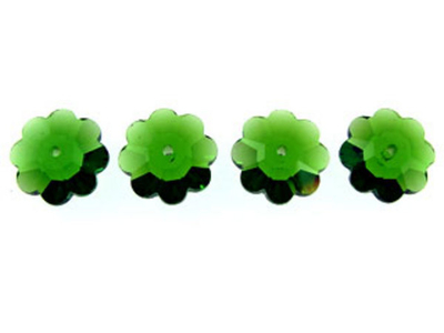 Swarovski Crystal 6mm Daisy Bead 3700 - Fern Green - Transparent Finish