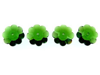 Swarovski Crystal 6mm Daisy Bead 3700 - Fern Green - Transparent Finish
