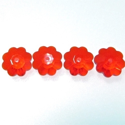 Swarovski Crystal 6mm Daisy Bead 3700 - Light Siam Red - Transparent Iridescent Finish | Swarovski Marguerites