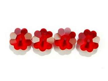 Swarovski Crystal 6mm Daisy Bead 3700 - Siam - Deep Red - Transparent Finish
