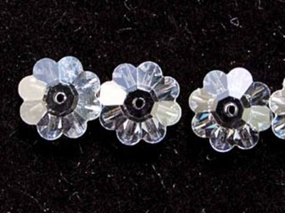 Swarovski Crystal 8mm Daisy Bead 3700 - Crystal - Clear - Transparent Finish