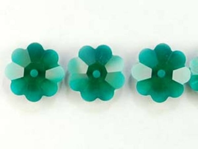 Swarovski Crystal 8mm Daisy Bead 3700 - Emerald - Dark Green - Transparent Finish