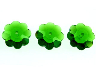 Swarovski Crystal 8mm Daisy Bead 3700 - Fern Green - Transparent Finish