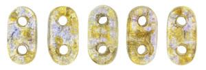 CzechMate Bar Seed Beads - Gold Smoke Topaz - Transparent Luster Finish | 2 x 6mm 2 Hole CzechMate Bars