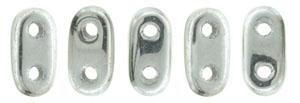 CzechMate Bar Seed Beads - Silver - Metallic Finish | 2 x 6mm 2 Hole CzechMate Bars