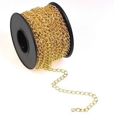 4.2mm Gold Plate Curb Chain | Gold Plated Base Metal Chains for Making Jewelry