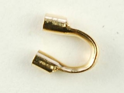 14k Goldfill Thick Cable Guard with .045mm Hole for Thick Cable - 12 Pack   Metal Findings for Making Jewelry
