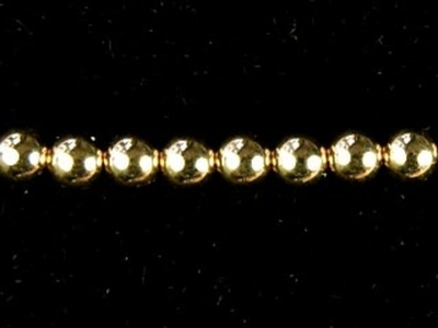 3mm Goldfill Seamed with 1.15mm hole Metal Beads and Spacers