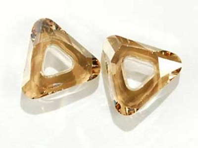 Swarovski Crystal 14mm Cosmic Triangle 4737 - Crystal Golden Shadow - Transparent with Finish