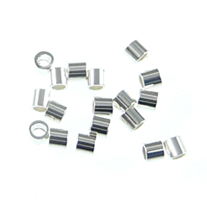 1.1 x 1mm Tube Crimp Bead - Sterling Silver  - .5 gram Pack of Approximately 75 Pieces | Metal Findings for Making Jewelry