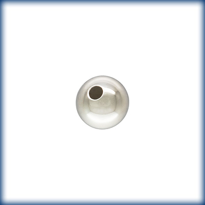5mm Sterling Silver Smooth Light Seamless Round Metal Beads and Spacers