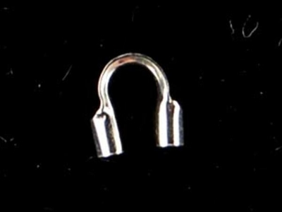 Sterling Silver Medium Cable Guard with .031mm Hole for Thick Cable - 24 Pack | Metal Findings for Making Jewelry