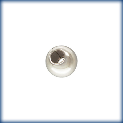 3mm Sterling Silver Seamed Round Metal Beads and Spacers