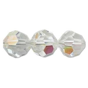 Swarovski Crystal 10mm Round Bead 5000 - Crystal AB - Clear - Transparent Iridescent Finish