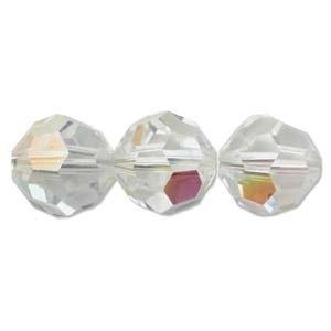 Swarovski Crystal 12mm Round Bead 5000 - Crystal AB - Transparent Iridescent Finish