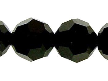Swarovski Crystal 12mm Round Bead 5000 - Jet - Black - Opaque Finish