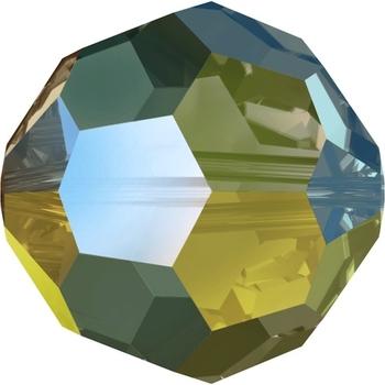 Swarovski 6mm Crystal Iridescent Green Round Bead 5000 Transparent with Finish