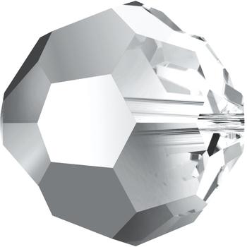 Swarovski 6mm Crystal Light Chrome Transparent Round 5000 Beads with Finish