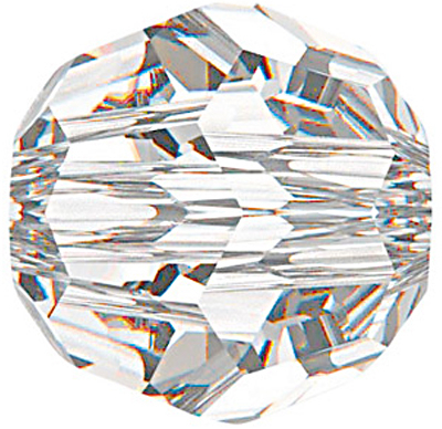 Swarovski Crystal 6mm Round Bead 5000 - Crystal - Clear - Transparent Finish