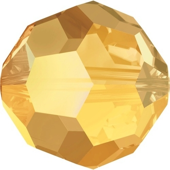 Swarovski 6mm Crystal Metallic Sunshine Round Bead 5000 Transparent with Finish