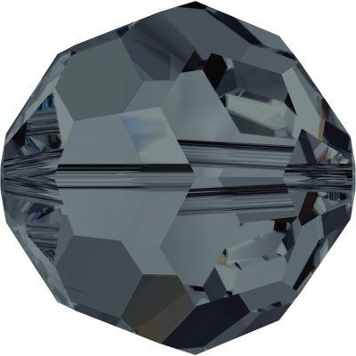 Swarovski Crystal 6mm Graphite Round Bead 5000 with Transparent Finish