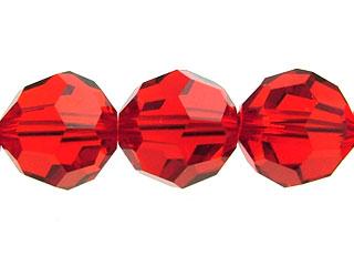 Swarovski Crystal 6mm Round Bead 5000 - Light Siam - Light Red - Transparent Finish