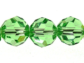 Swarovski Crystal 6mm Round Bead 5000 - Peridot - Light Green - Transparent Finish