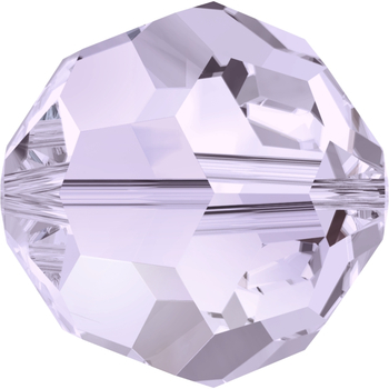 Swarovski Crystal 6mm Smoky Mauve Round Bead 5000 with Transparent Finish