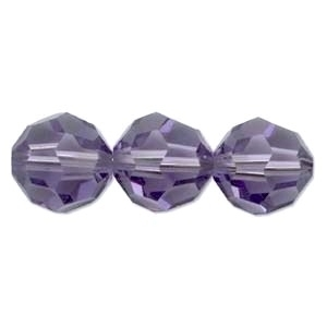 Swarovski Crystal 6mm Round Bead 5000 - Tanzanite - Bluish Purple - Transparent Finish