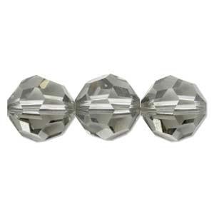 Swarovski Crystal 8mm Round Bead 5000 - Black Diamond - Grey - Transparent Finish