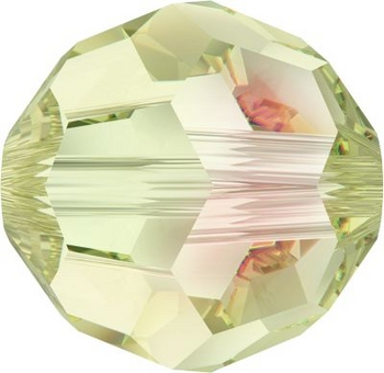 Swarovski Crystal 8mm Round Bead 5000 - Crystal Luminous Green - Transparent with Finish