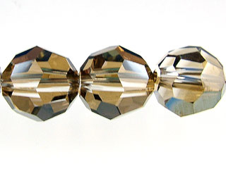 Swarovski Crystal 8mm Round Bead 5000 - Crystal Bronze Shade - Transparent with Finish