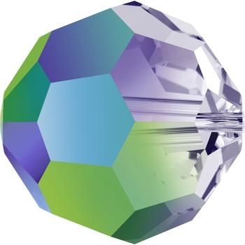 Swarovski 8mm Crystal Scarabaeus Green Transparent Round 5000 Beads with Finish