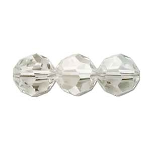 Swarovski Crystal 8mm Round Bead 5000 - Crystal Silver Shade - Transparent with Finish
