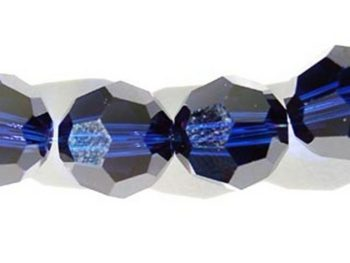 Swarovski Crystal 8mm Round Bead 5000 - Dark Indigo - Deep Blue - Transparent Finish