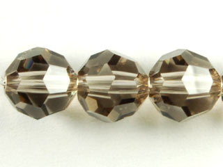 Swarovski Crystal 8mm Round Bead 5000 - Greige - Grey - Transparent Finish