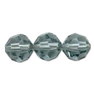 Swarovski Crystal 8mm Round Bead 5000 - Indian Sapphire - Blue - Transparent Finish